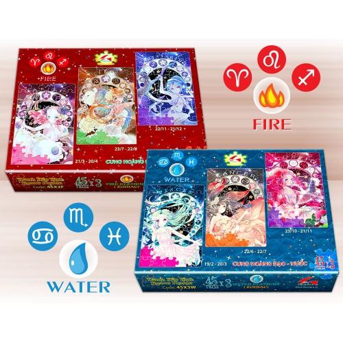 Mua 2 tặng 4 - Combo 2 hộp xếp hình 45 mảnh - Nhóm cung hoàng đạo Fire & Water