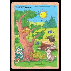 A5-038 Rừng và động vât qua 4 mùa ( 4 TRONG 1 )