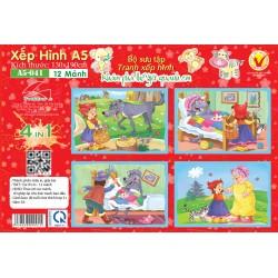 A5-041Cô bé quàng khăn đỏ ( 4 TRONG 1 )