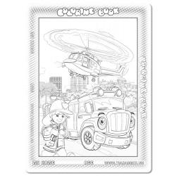 030-153 Trực thăng và xe cứu hỏa