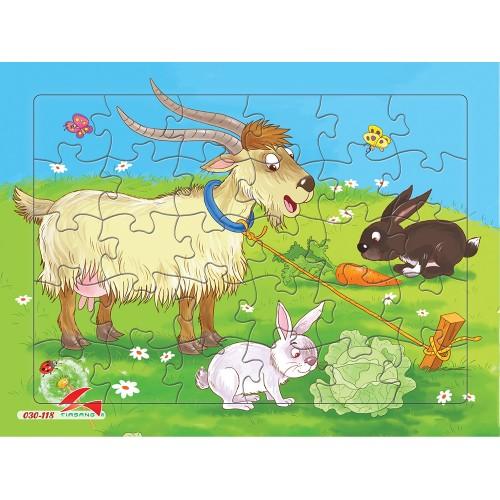 030-118 Dê và thỏ