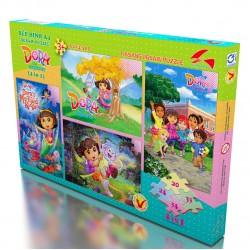 Xếp hình A4 (4 trong 1) Dora the explorer